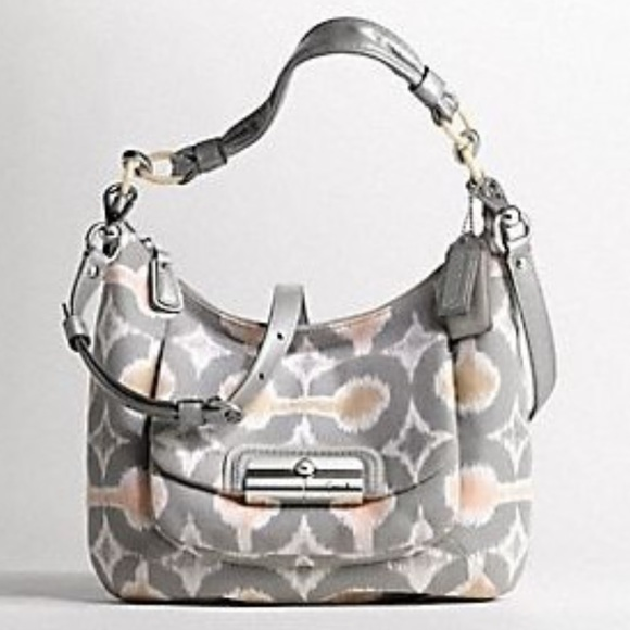 Coach Handbags - Coach Kristin Op Art Hobo Crossbody Bag